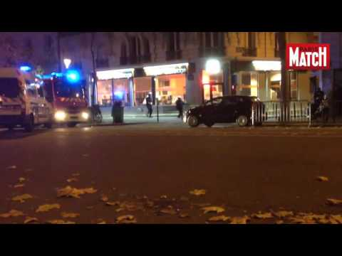 EXCLUSIVE VIDEO!! Police vs.Terrorist shooting on streets in Paris,Bataclan 2015 - terrorist attack