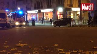 EXCLUSIVE VIDEO!! Police vs.Terrorist shooting on streets in Paris,Bataclan 2015 - terrorist attack(Terrorists vs Police shooting in Paris streets outside the Bataclan Theater 2015 November EXCLUSIVE VIDEO!!! Police against Terrorist shooting near Bataclan ..., 2015-11-15T02:28:26.000Z)