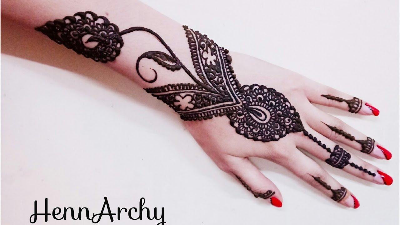 Flower Bangles Mehndi : Arabic bridal mehndi designs for hands trending styles