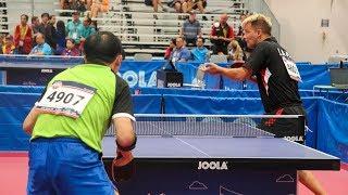 2018 World Veteran Championships Table Tennis - Singles Semis & Finals - Table 7