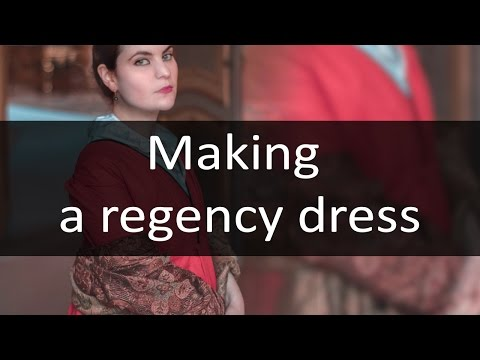 Making a crossover Regency dress pt.1 (19th century)