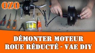 Comment démonter un moteur roue réducté de vélo électrique VAE DIY