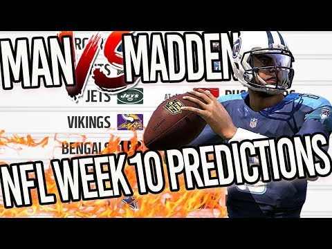 Predicting Every NFL Week 10 Winner | Man vs Madden 2017