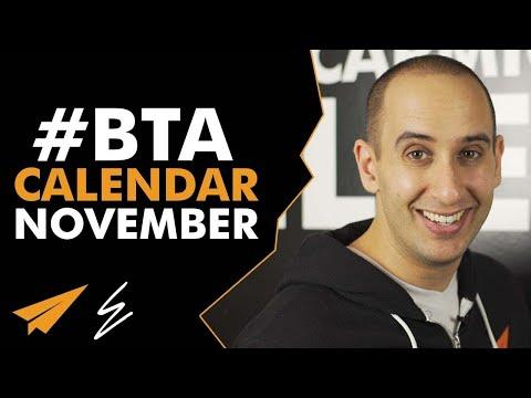#BTA Calendar - November edition - Life with Evan