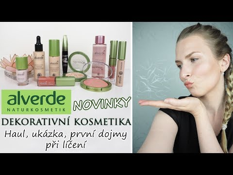 ALVERDE NOVINKY | Dekorativní kosmetika | Haul, ukázka produktů, první dojmy při líčení