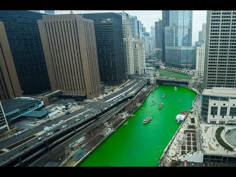 Watch the Chicago River turn green for St. Patrick's Day!