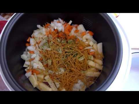 Суп с потрохами - на курином бульоне с вермишелью