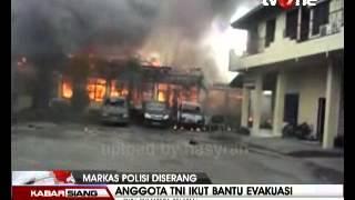 Bentrok Polri Vs TNI : Mapolres Oku (SumSel) Diserang Anggota TNI Kamis Pagi (07/03/2013)