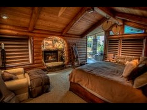 Log cabin master bedroom youtube Log cabin 2 bedroom