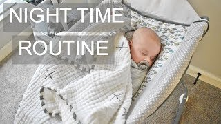 NEWBORN NIGHT TIME ROUTINE 2019 | Realistic Bedtime Routine with a baby
