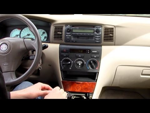 Toyota Corolla Car Stereo Removal 2003 to 2008