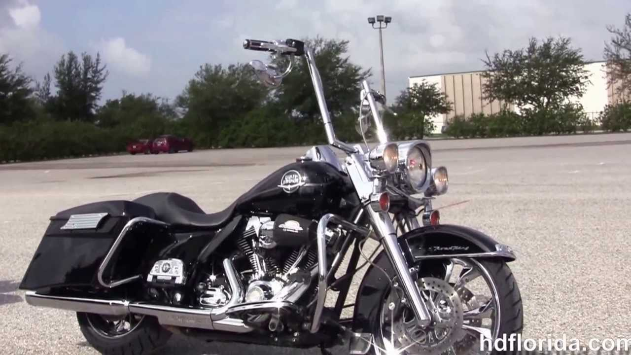 Used 2009 Harley Davidson Custom Road King Bagger for sale - YouTube