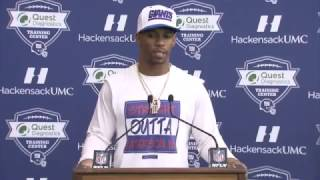 Victor Cruz discusses his playoff experience