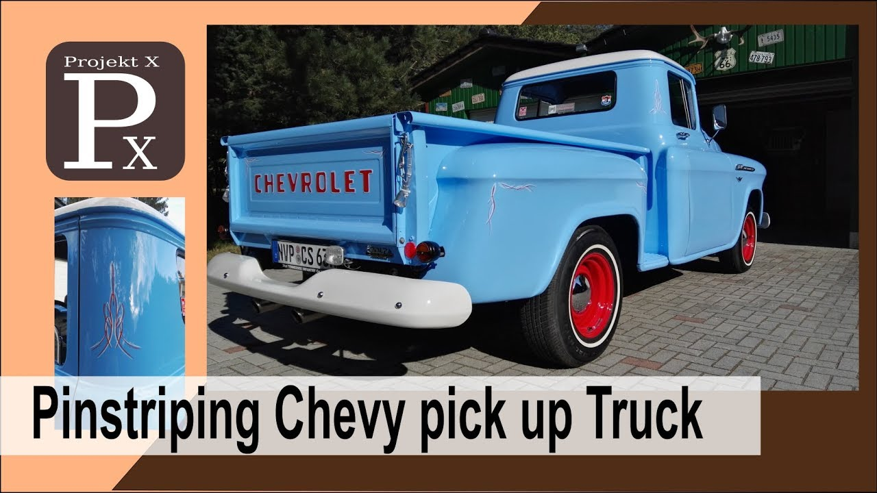 How To Pinstripe Chevy Pickup Truck Hot Rod Pinstriping Px Youtube
