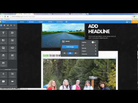 Adding Links and Buttons in Weebly