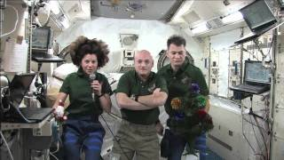 ISS Crew Sends Holiday Greetings to All
