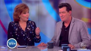 Repeat youtube video Charlie Sheen Gives Update On HIV Diagnosis, Running With Ted Cruz in 2020 & More | The View