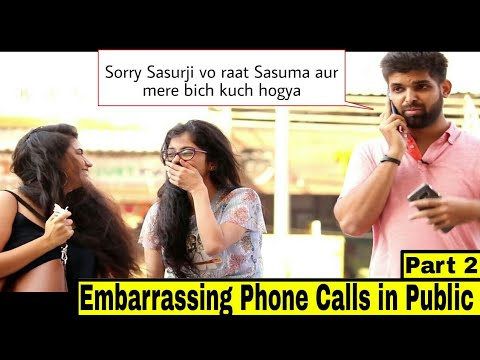 Embarrassing Phone Call in Public Prank with a twist 'Part 2'