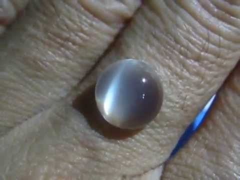 Batu Mulia Cats Eye Moonstone 3.33 carat Round