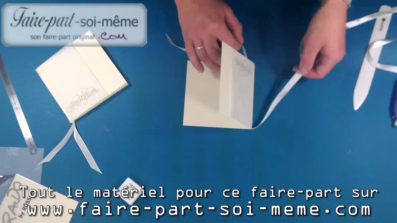 Gut gemocht Carte d'invitation blanc fleuri - YouTube HG22