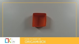 Origami toys #2 - How to make an origami box I (Square box I)