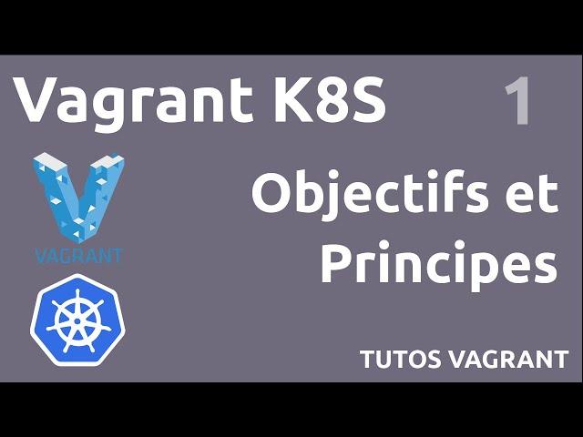 #VAGRANT K8S - 1. OBJECTIFS ET PRINCIPES
