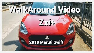 2018 Maruti Swift Zxi+ Solid Fire Red Colour WalkAround Video With Music
