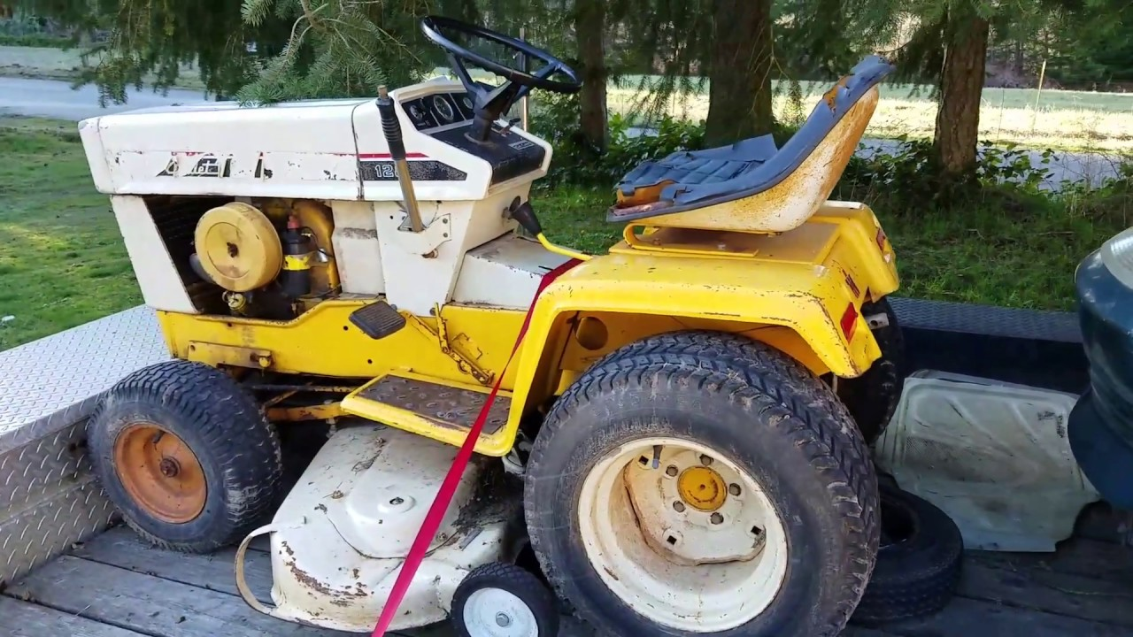 1974 cub cadet 128 lawn tractor [ 1280 x 720 Pixel ]