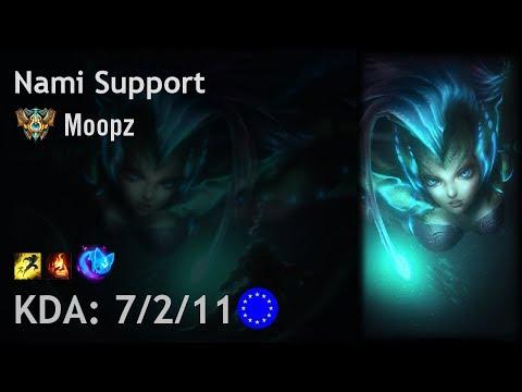 Nami Support vs Lulu - Moopz - EUW Challenger Patch 8.2