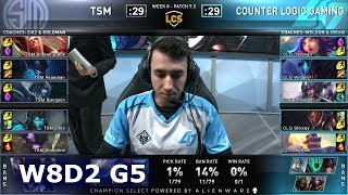 TSM vs CLG | S9 LCS Spring 2019 Week 8 Day 2 | Team Solomid vs CLG W8D2