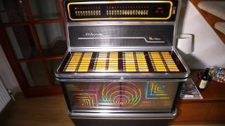 Eddie Cochran Twenty Flight Rock played on the Wurlitzer  Atlanta `79  Juke Box