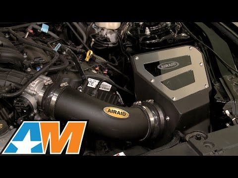 Dyno: 2015-2017 Mustang Airaid Cold Air Intake - SynthaMax Dry Filter (V6) Review & Install