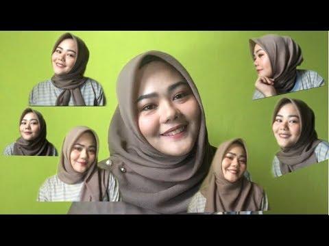 Video Tutorial Hijab Simple Segi Empat Untuk Wajah Bulat