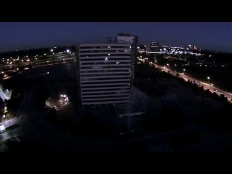 ramada-inn-southfield,-mi-demolition---detroit-drone-aerial-video