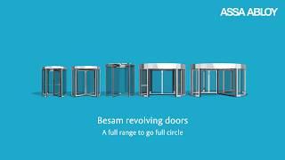 видео Автоматические револьверные, вращающиеся, карусельные двери Dorma, Besam, Geze