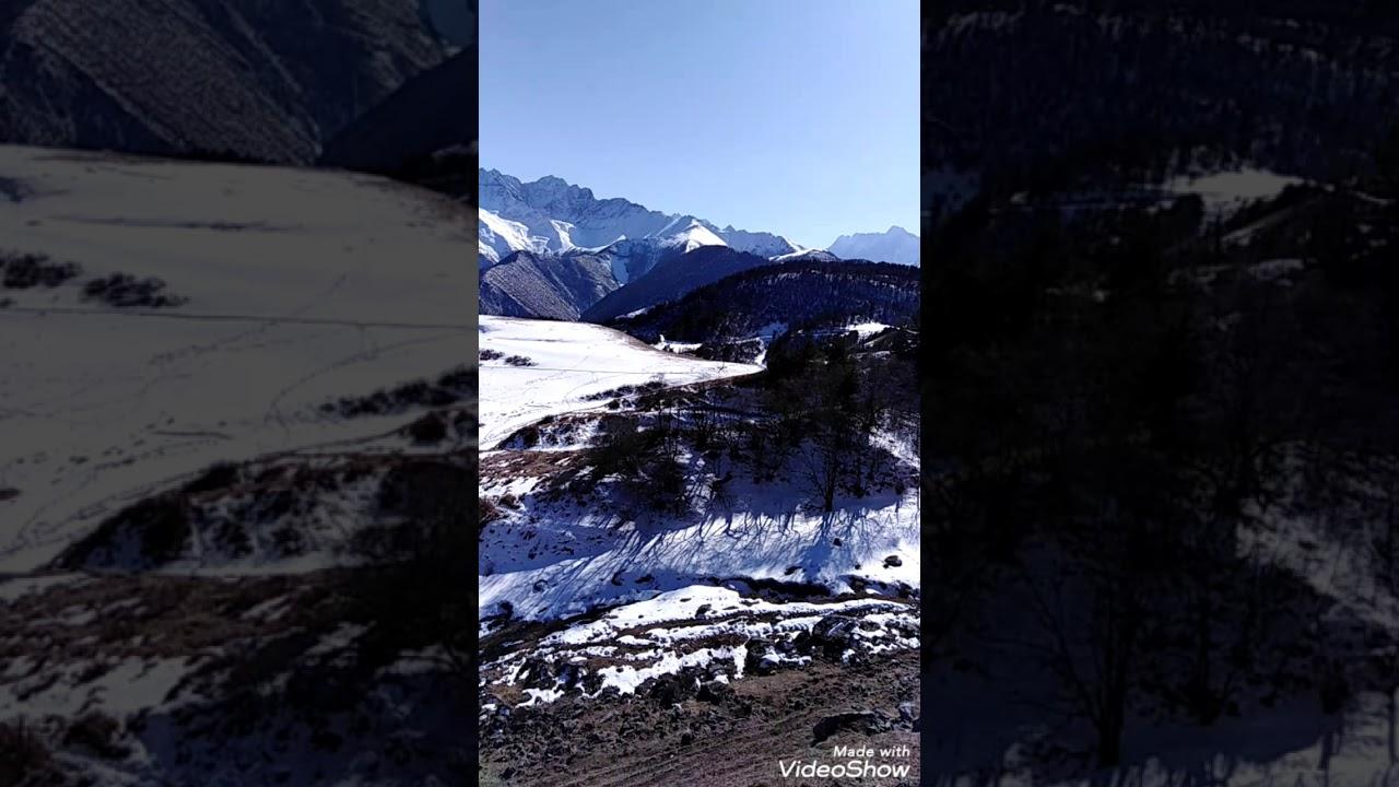 Горная Ингушетия, конец февраля, 2020.   Красивая природа ...