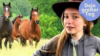 Pferde, Rinder, Gaucho - Linn beim Westernreiten   Dein großer Tag   SWR Kindernetz