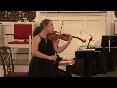 Emily Kaplan Performs Romance in G Major by Beetho...