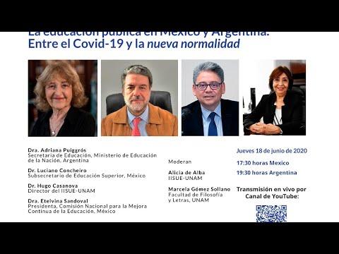"""MESA DE REFLEXIÓN Y ANÁLISIS VIRTUAL. La educación pública en México y Argentina. Entre el Covid-19 y la """"nueva normalidad"""" [513]"""