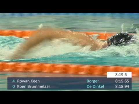 #34-1 - Men 1500 m Freestyle - Swim Cup Eindhoven 2017   Zwemmen