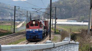 경부선 전동-전의 구간을 지나가는 #3041 화물열차(…