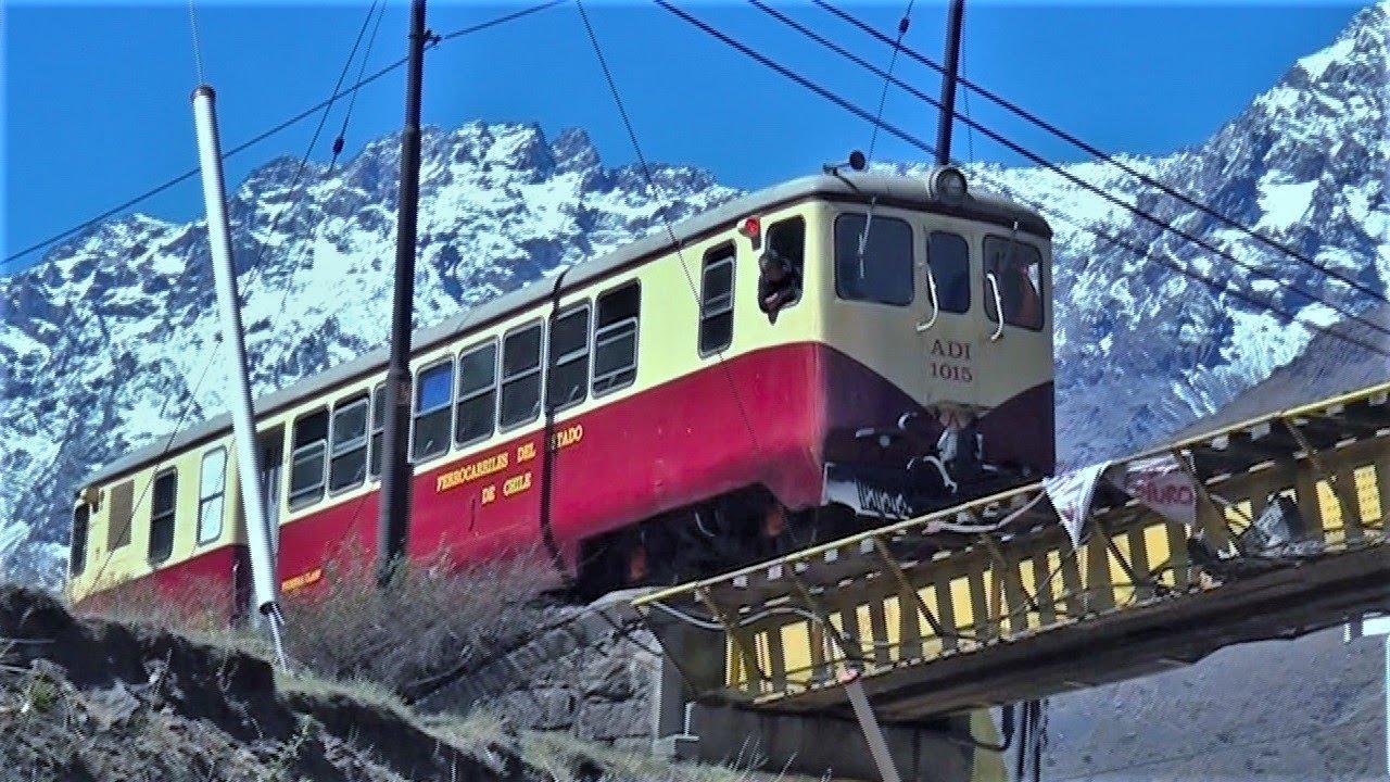 Automotor Schindler ADI-1015 (Ferrocarril Trasandino) Viaje de pruebas entre Los Andes y Río Blanco