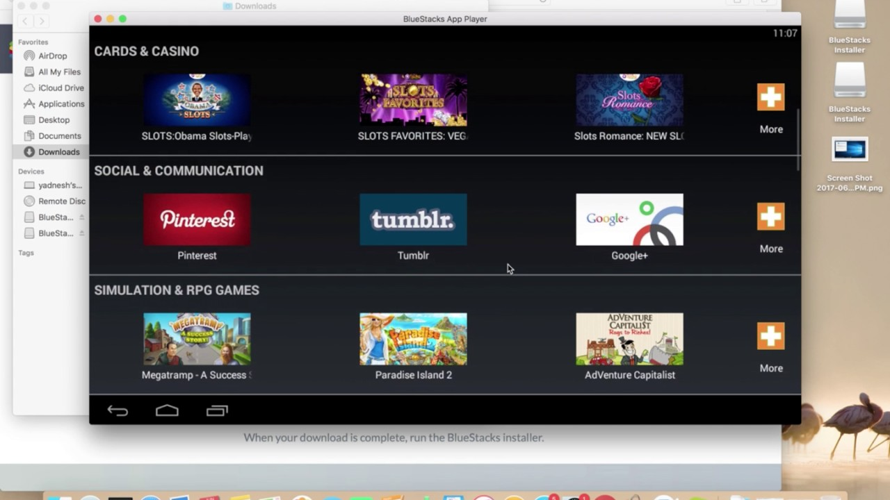 how to install games on bluestacks mac