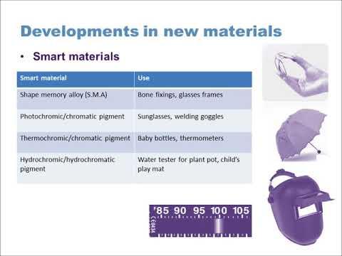GCSE Design Technology (9-1): Developments in new materials