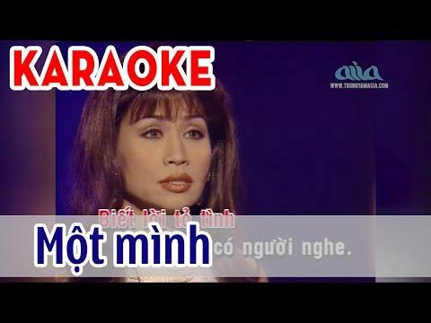 Một Mình Karaoke Tone Nữ - Khánh Hà | Asia Karaoke Beat Chuẩn