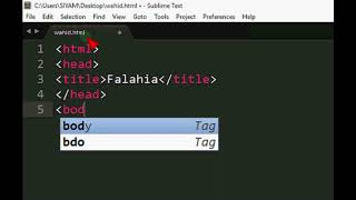 How to create basic webpage with Sublime Text3