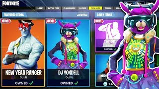 NEW YEAR'S DAY SKINS! Fortnite Item Shop Today Countdown Live PS4 // December 31 2018