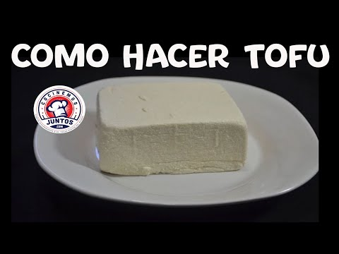 Como hacer tofu  - Queso Vegano o queso de soja