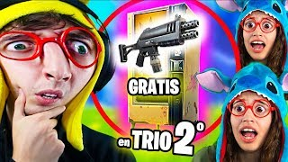 ONLY LOOT VISPUT MACHINES **FREE** TRIO #2 Challenge Fortnite Battle Royale! Eating