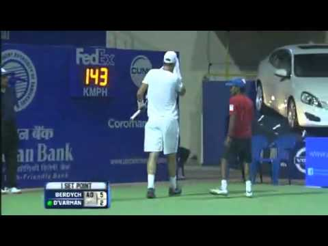 Aircel Chennai Open 2013 : Round 2 : Tomas BERDYCH (CZE) vs Somdev DEVVARMAN (IND)